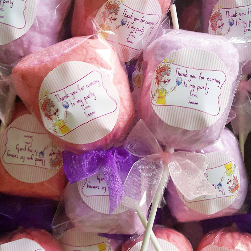 Fancy Nancy cotton candy party favors