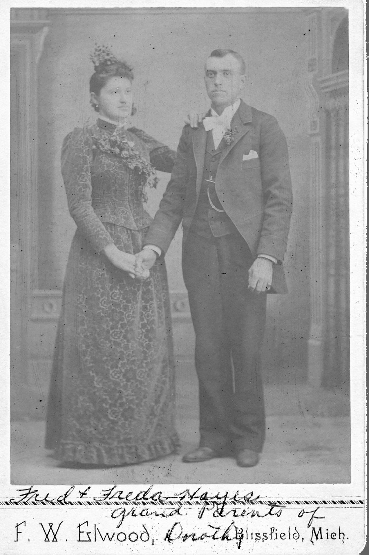 F. W. Elwood of Blissfield, MI 1892