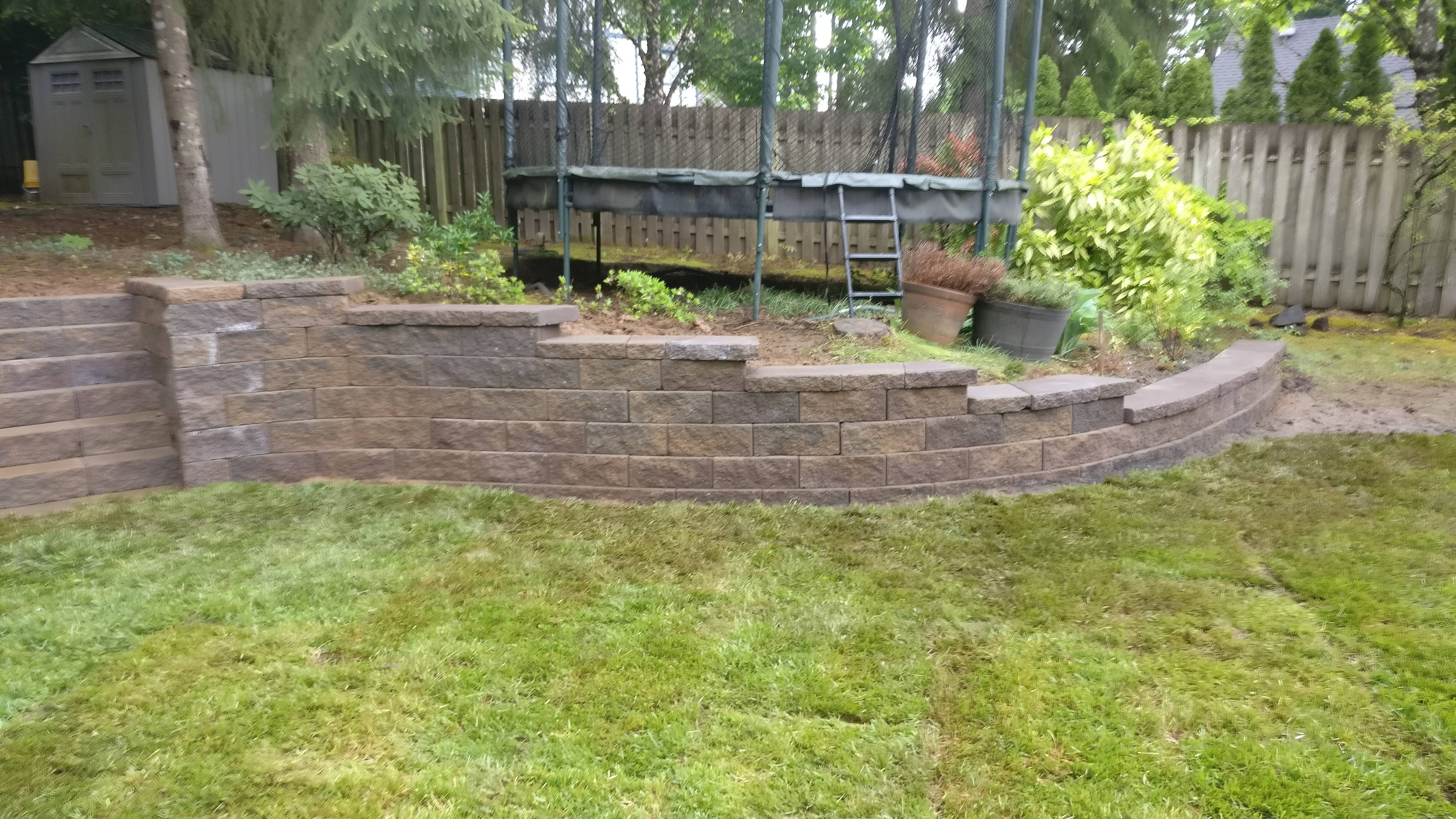 Retaining Wall & Steps in Beaverton Oregon