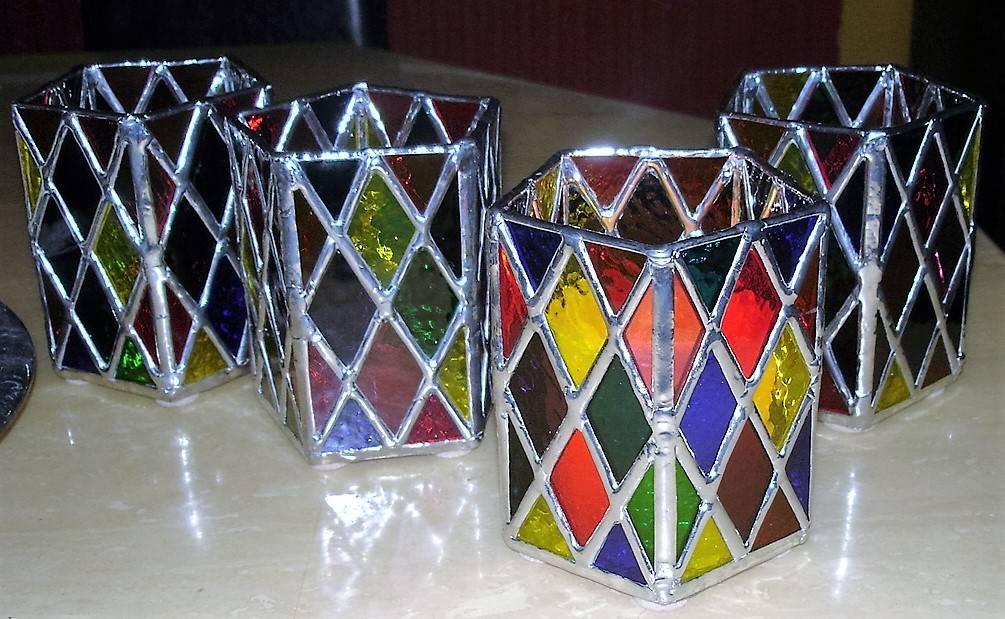 Diamond Candle Holders