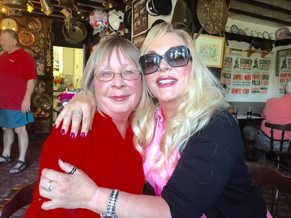 Jeanie Clarke and friend