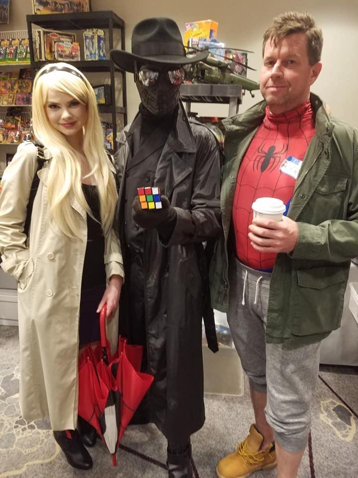 Spider-Gwen, Spider-Man Noir, and Peter B. Parker