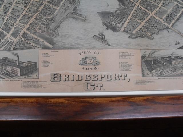 Detail of Bird's Eye View of Bridgeport