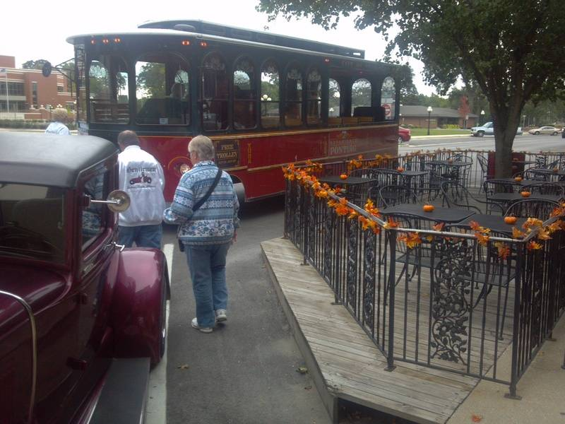 Ready for the trolly ride