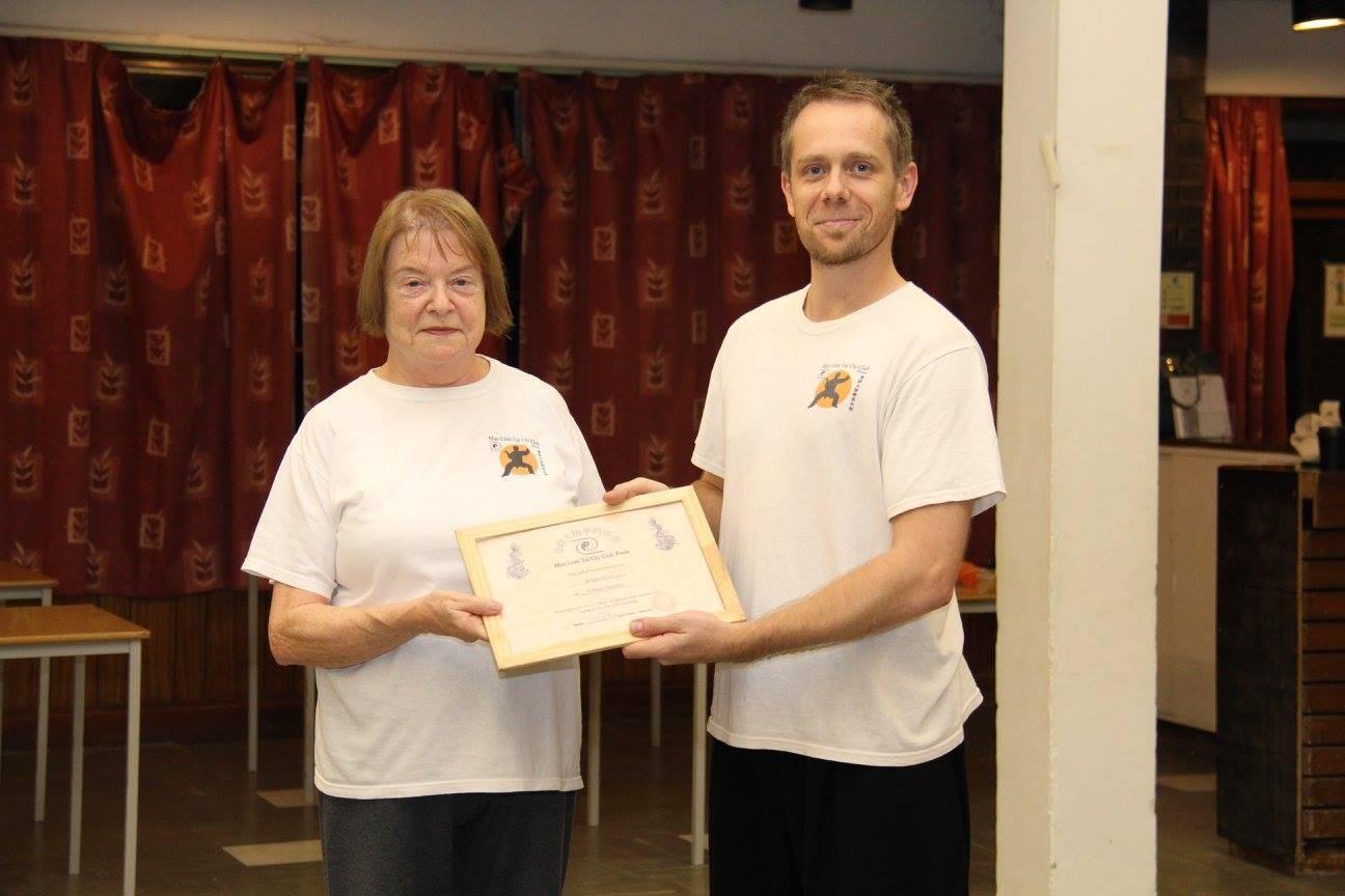 Certificate for Bernice...