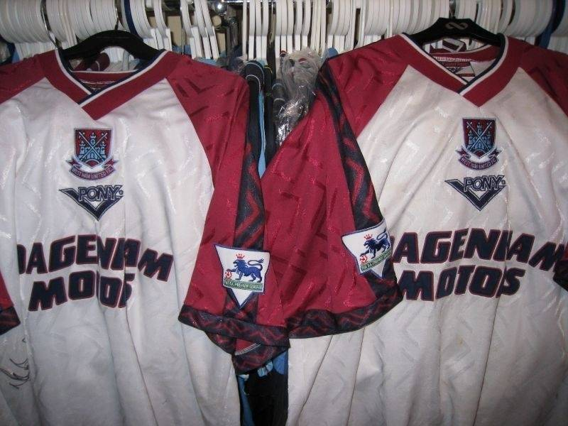 Mathew Rush # 14 and squad # 16 shirts 1996/97 away shirts