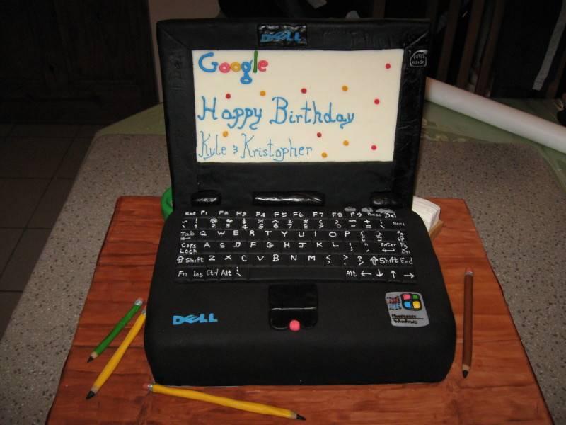 Cake 06A1 - Laptop Cake