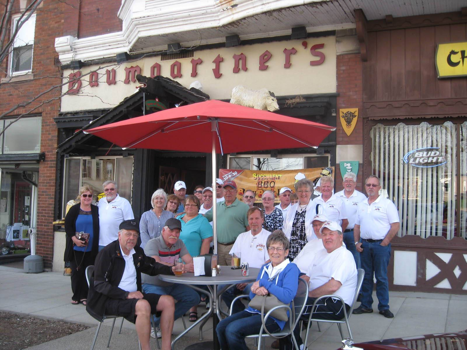 The 'Gang' in front of Baumgartners