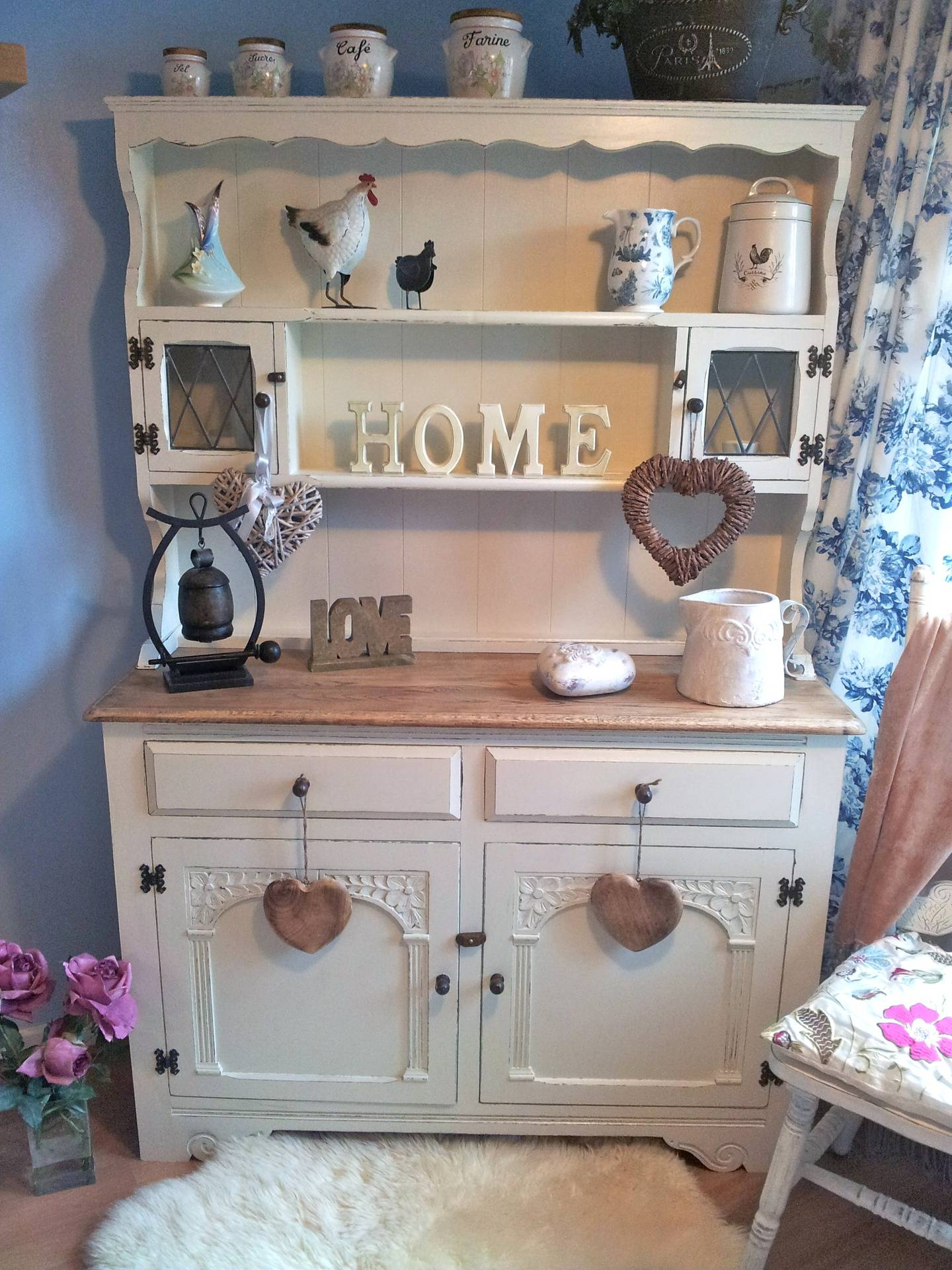 Gorgeous Old Charm 2 Door dresser in F & B Clunch