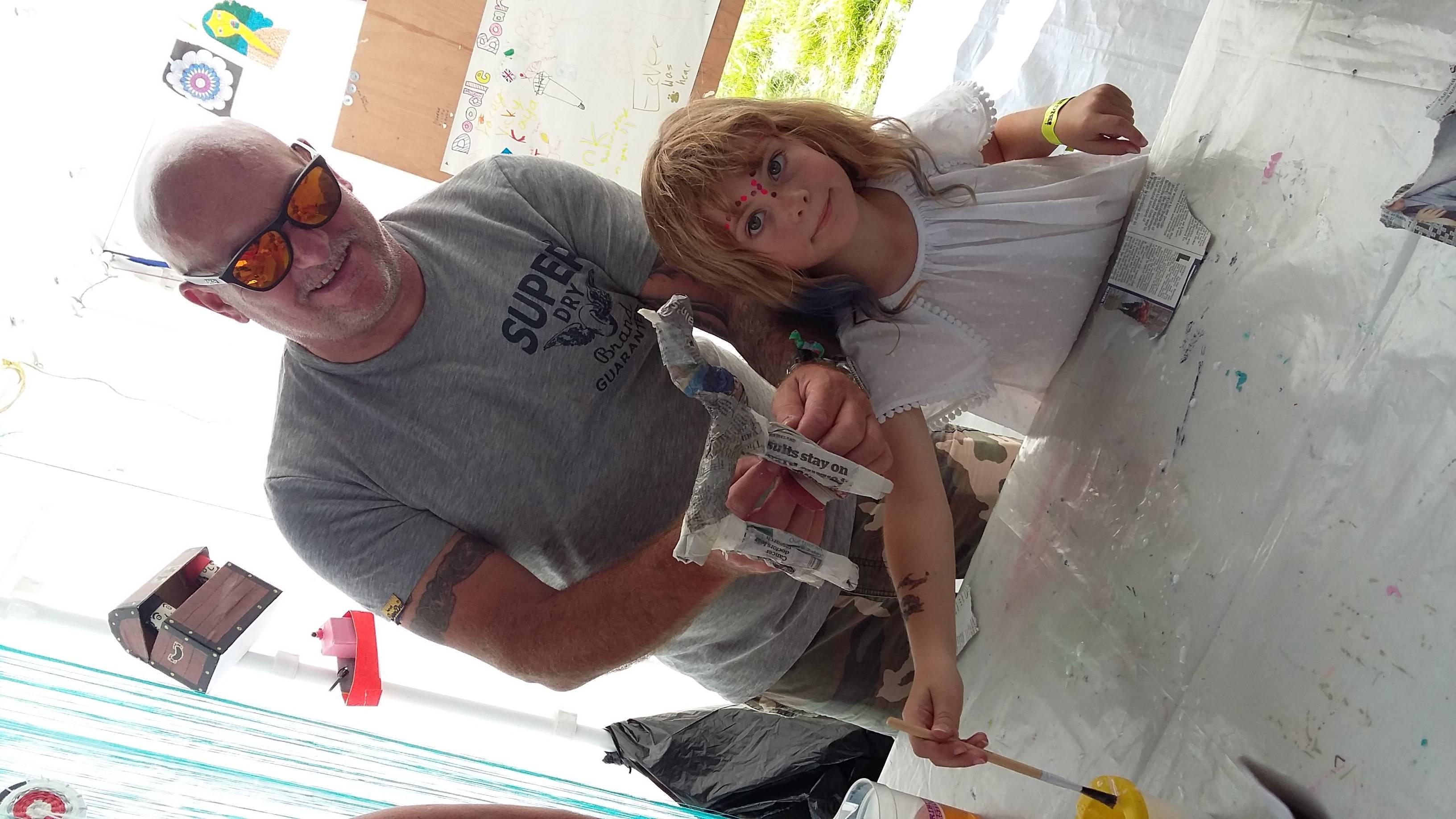 Making a papier mache unicorn with dad 2017