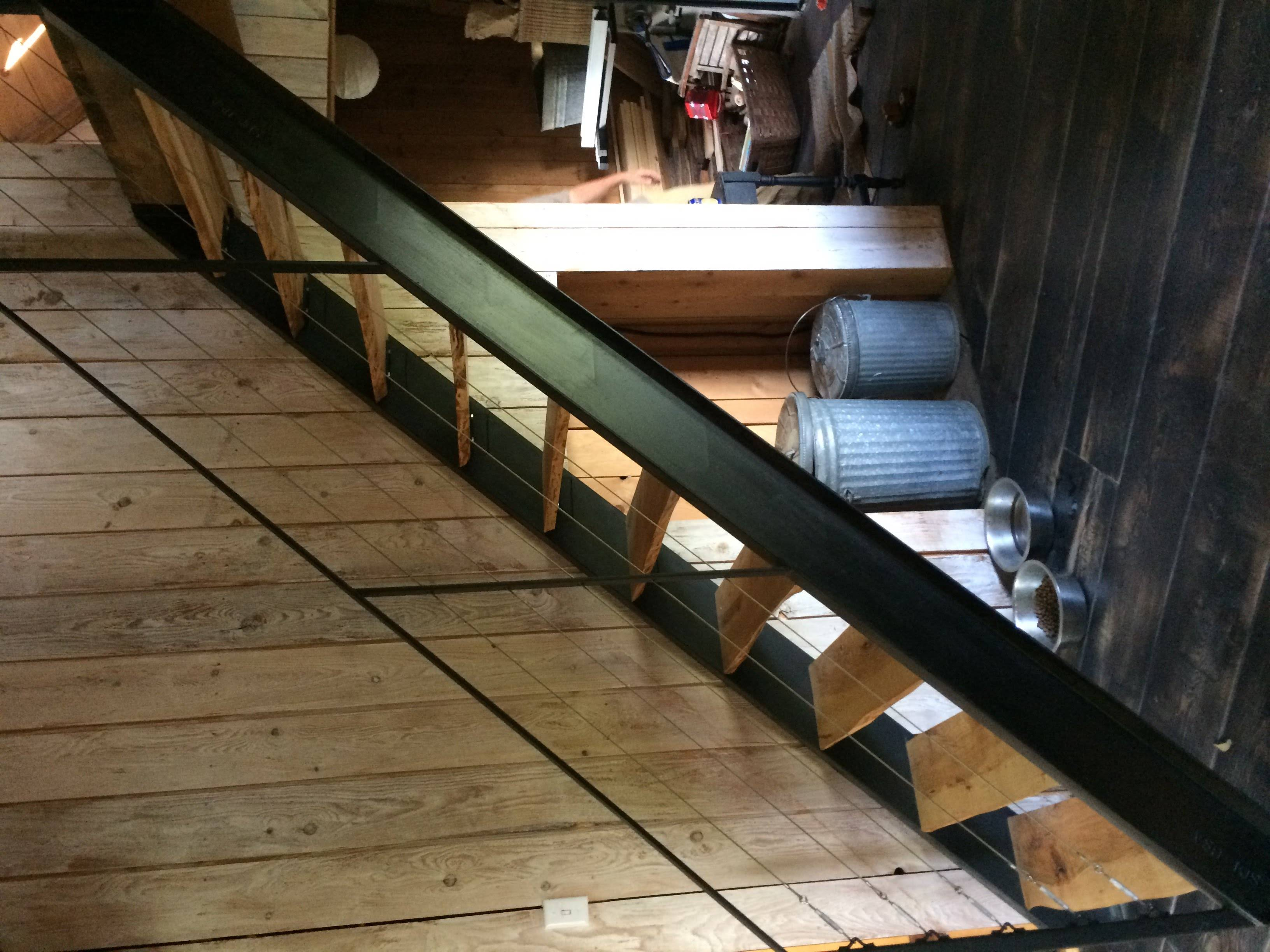 C-channel stringers with railings
