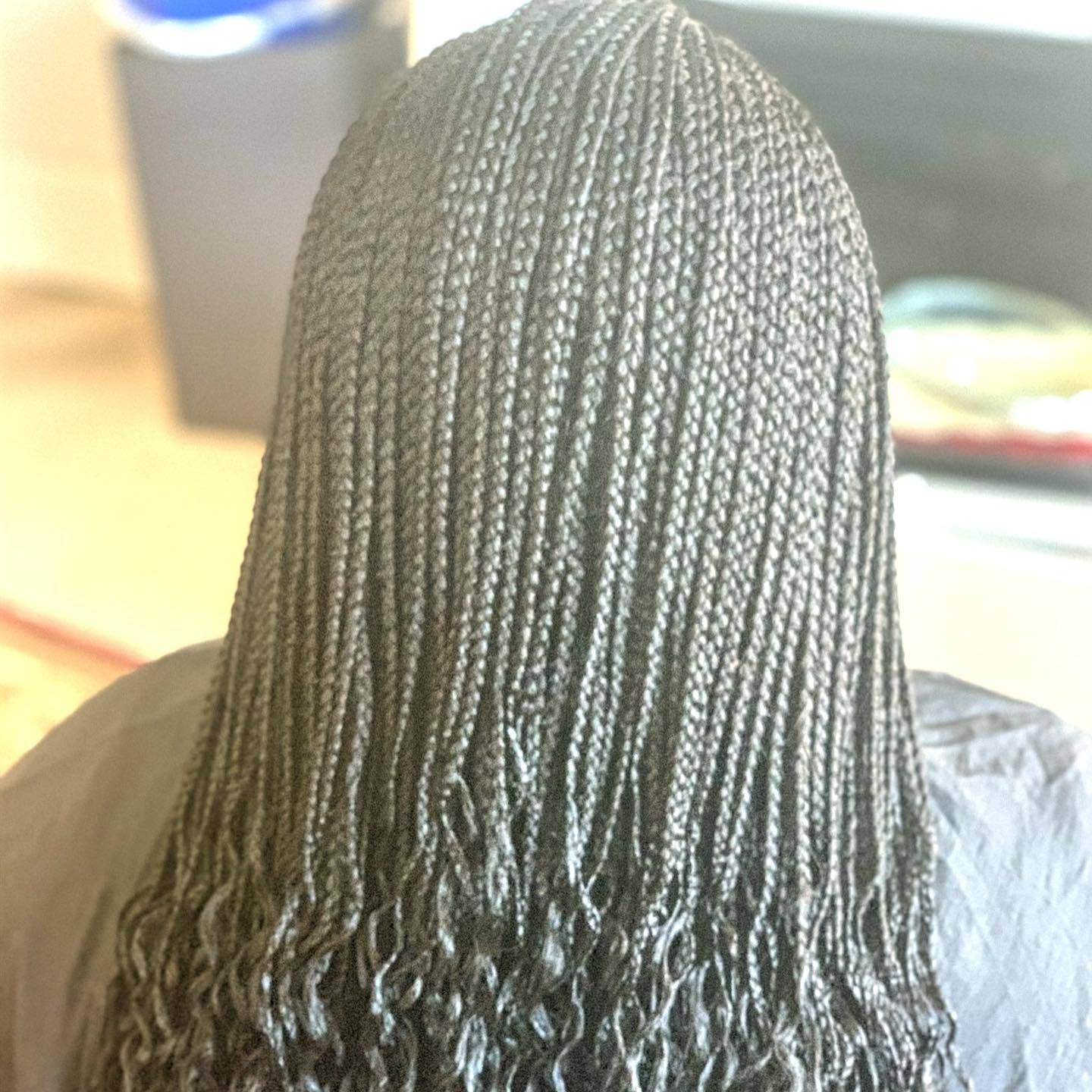 Small Individual braids completed in Alexandria, VA