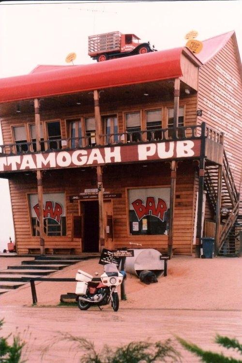 Tom's GS450 at the Ettamooga Pub Tabletop NSW - Dec 1989