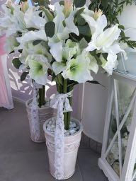 Amaryllis flower arrangements.