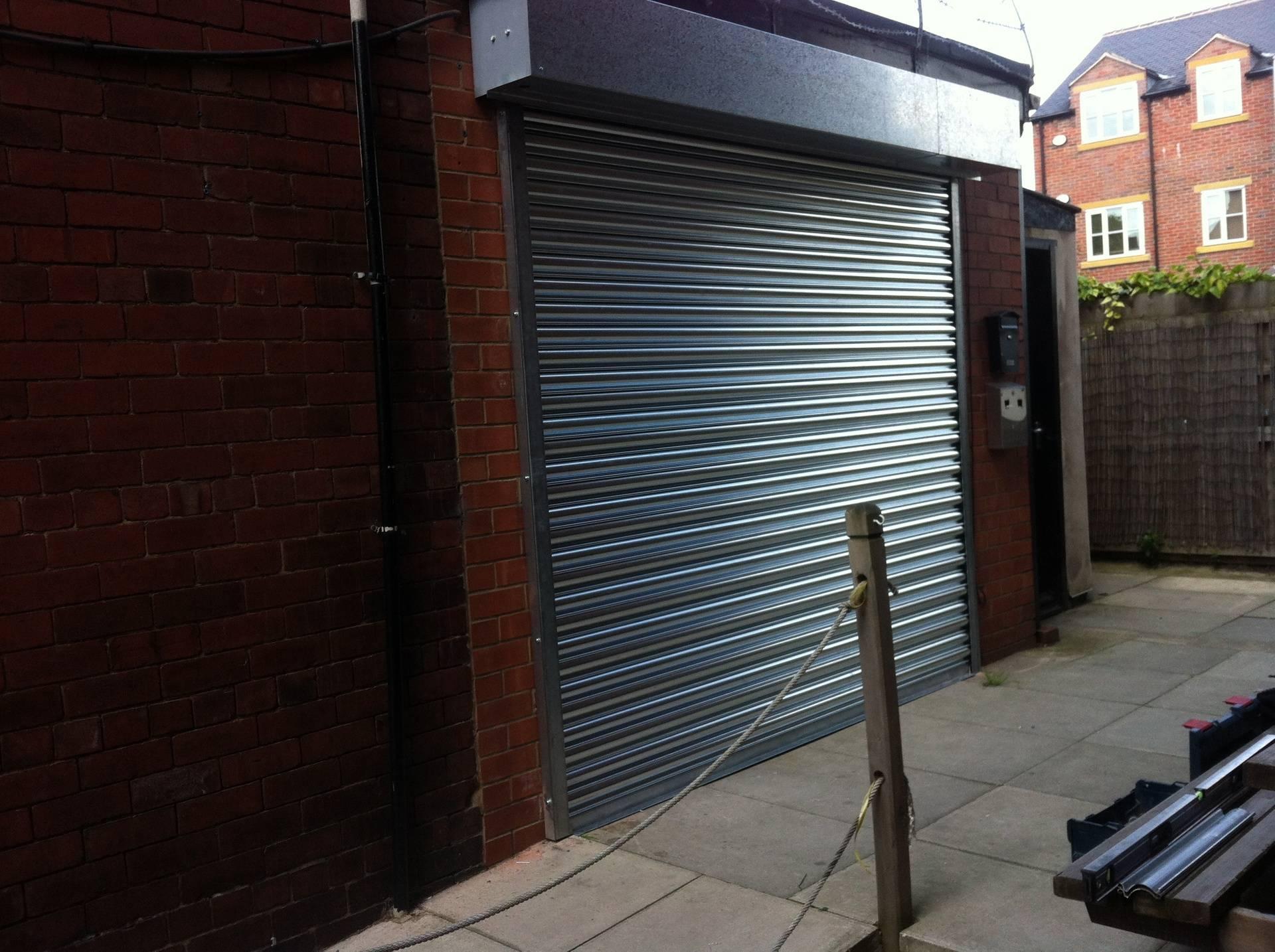 Shutter on new shop