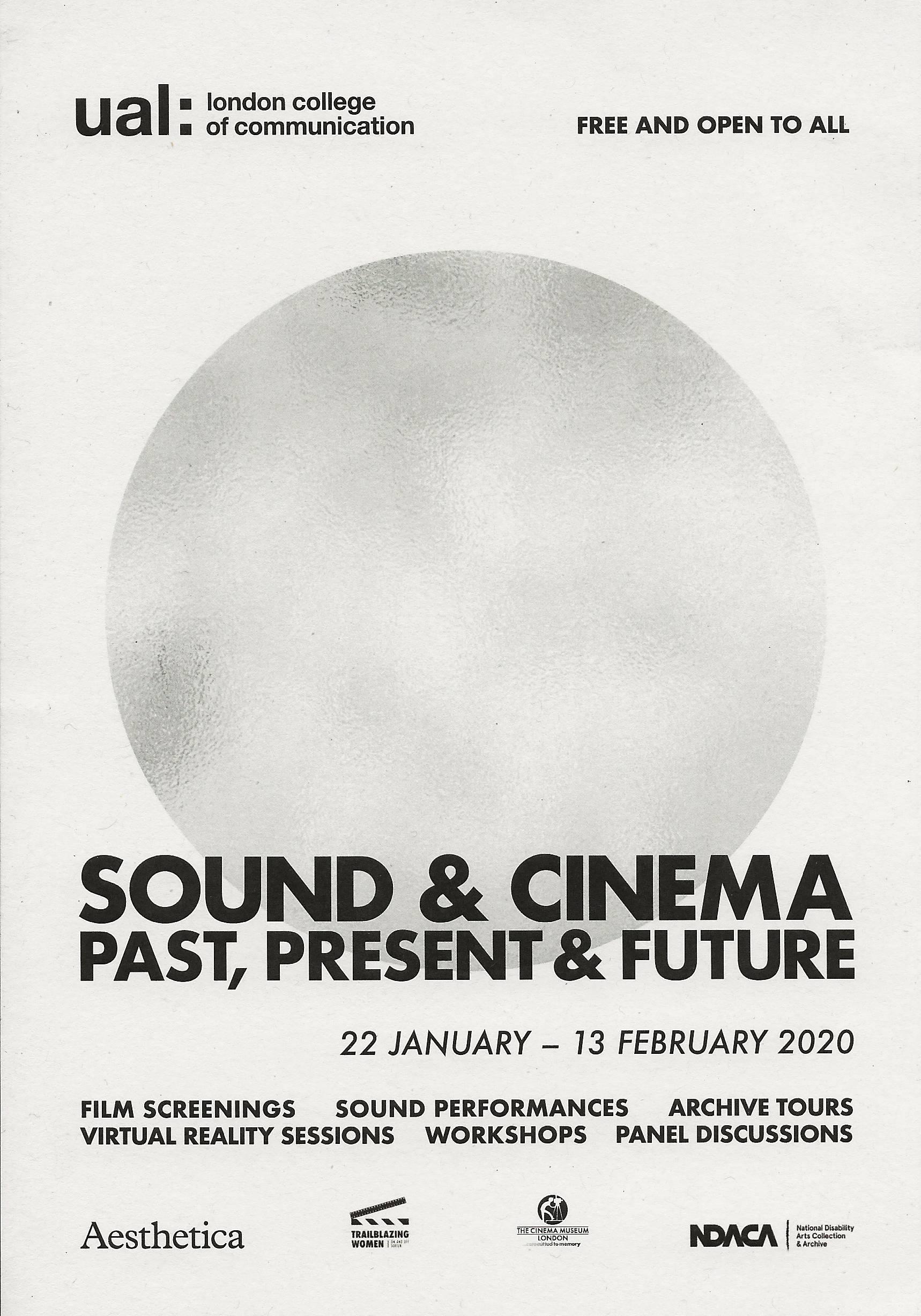 Sound & Cinema: Past, Present & Future (2020)