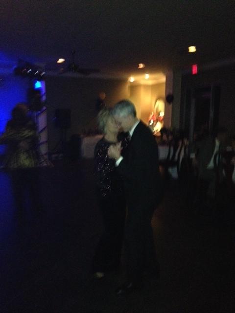 Kenny Malone dancing with Carol Read