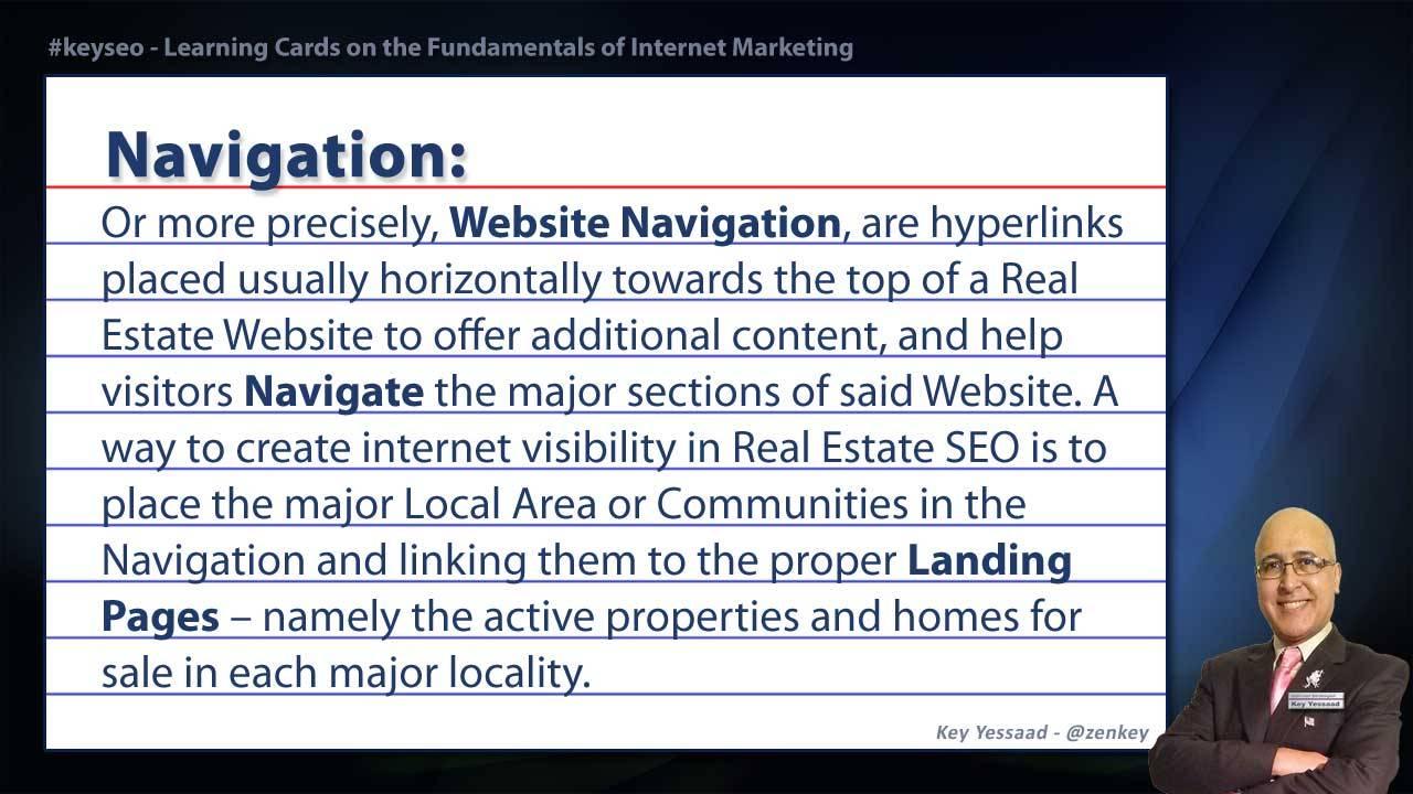 Navigation - Real Estate SEO Short Definition