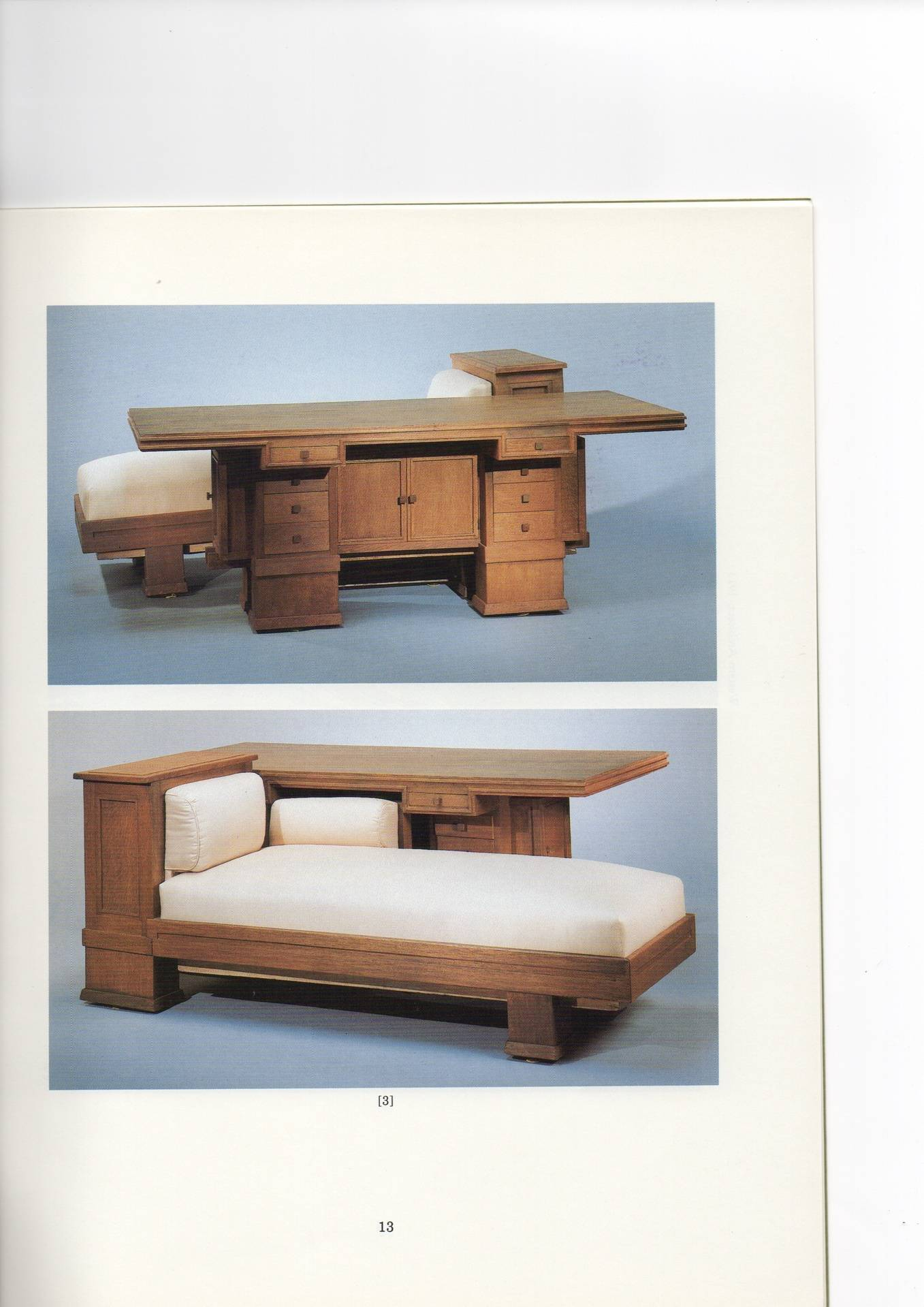 Oak Combination Table and Couch