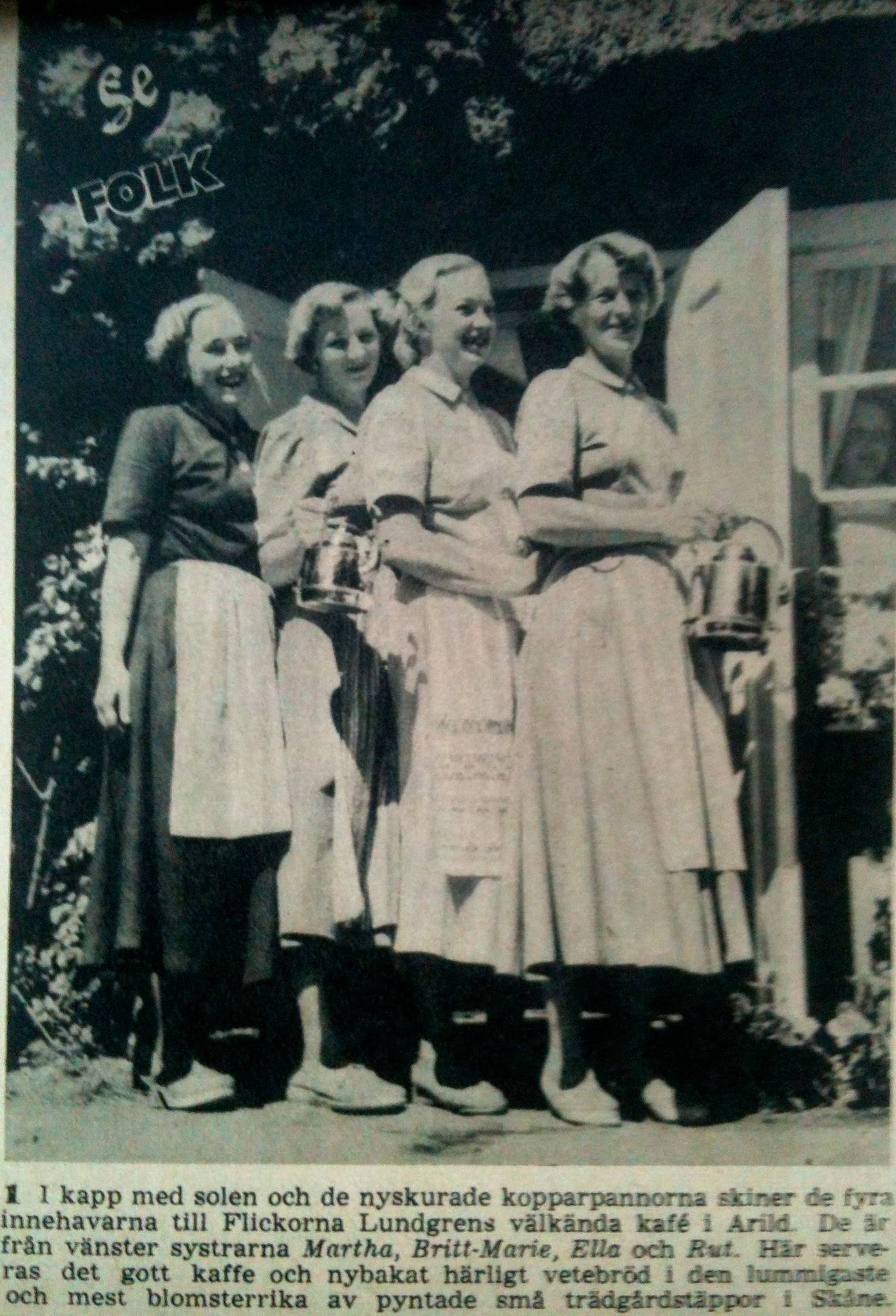 Flickorna Lundgren i Skaret 1950