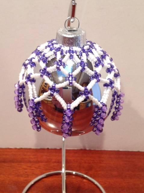 Purple Starry Night ornament (Item #4106) $20.00