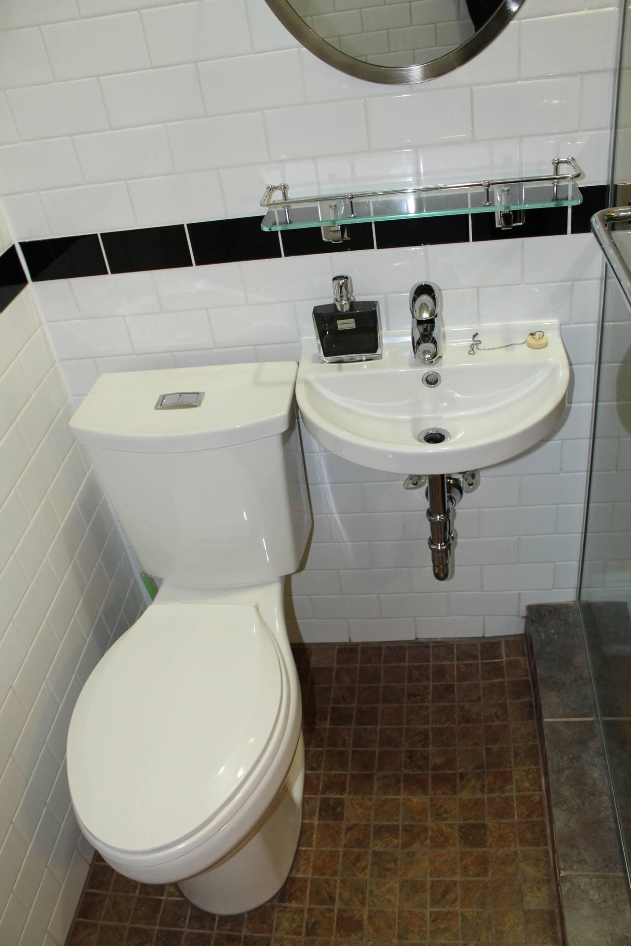 Closer bathroom view