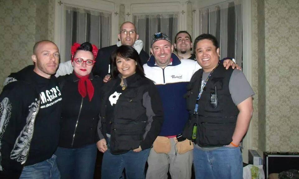 Joe Chin, Christine Downes, and the gang at SK Pierce Mansion