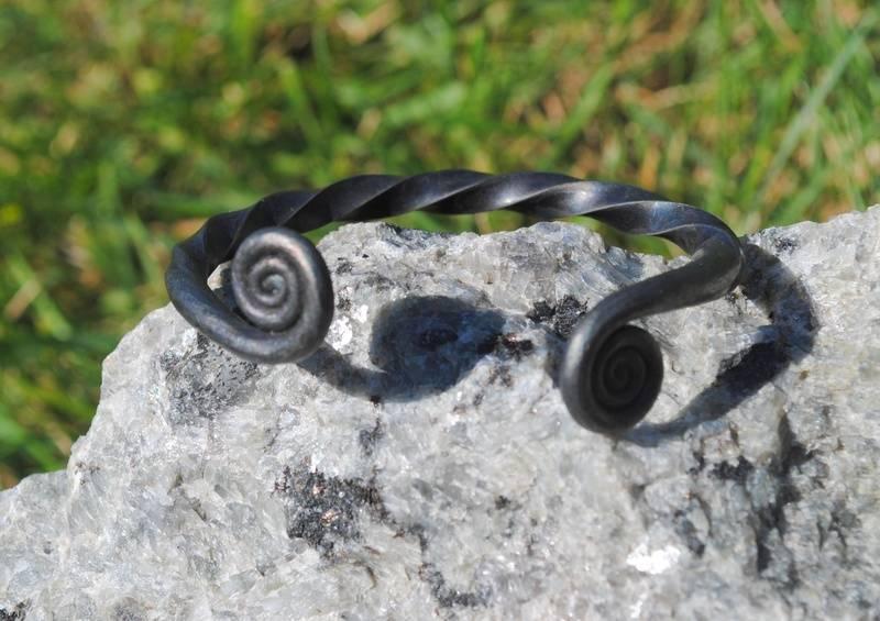 Forged Steel Torc Bracelet