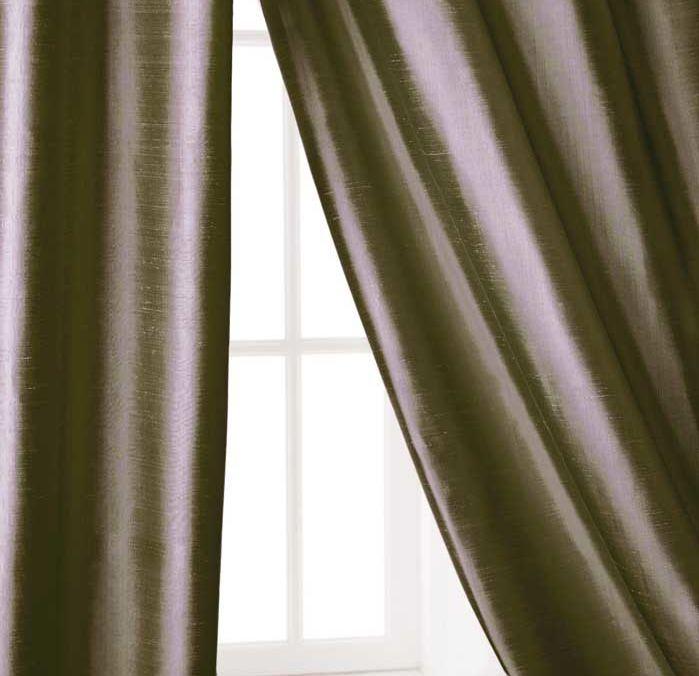 132L- Faux Dupioni Silk Blackout Curtains