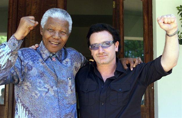 Mandela and Bono