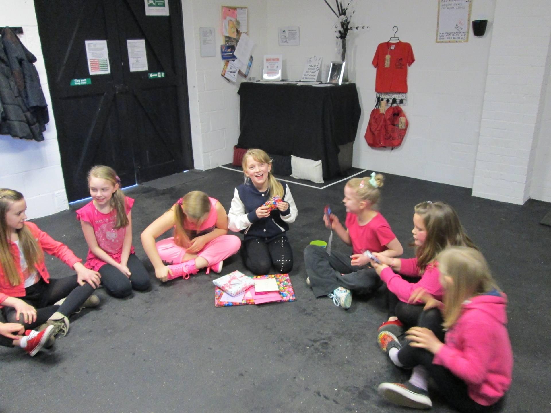 The Children Enjoying Faith's Birthday
