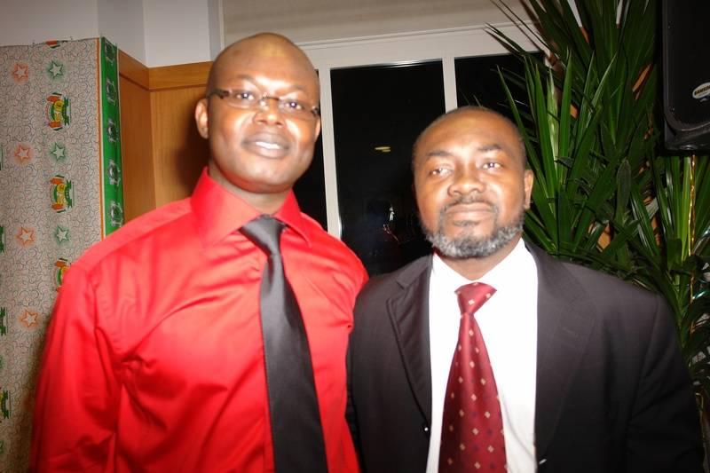Gnaka with friend, Jean-Basile N'guetta