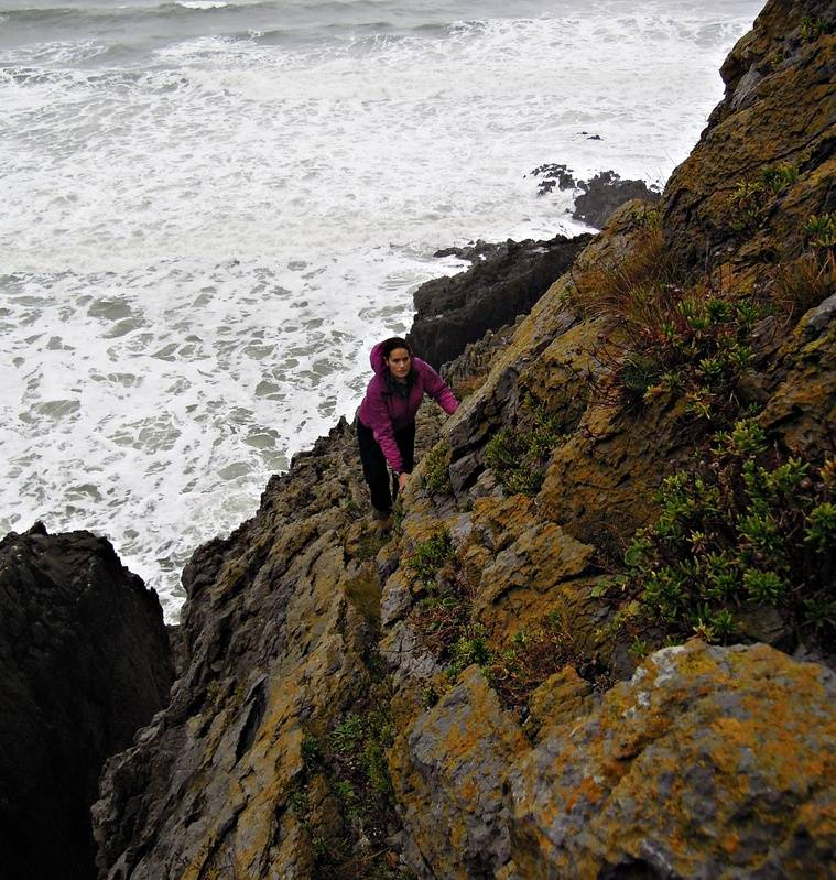The traverse - scary sea right below