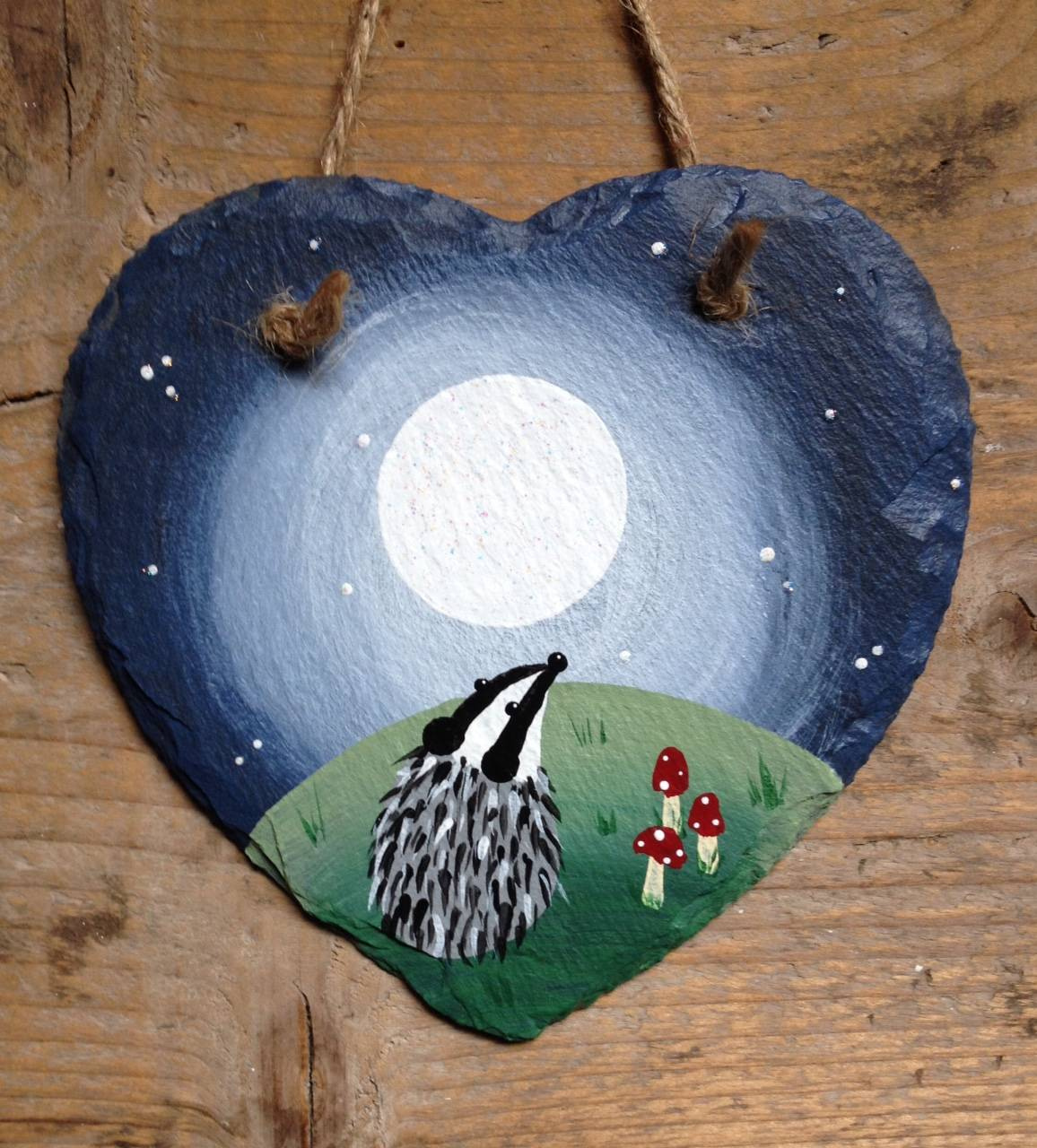 Small slate with badger