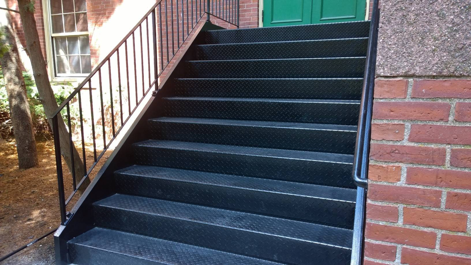 After Image 2: New Color Galvanized Staircase Fully Installed