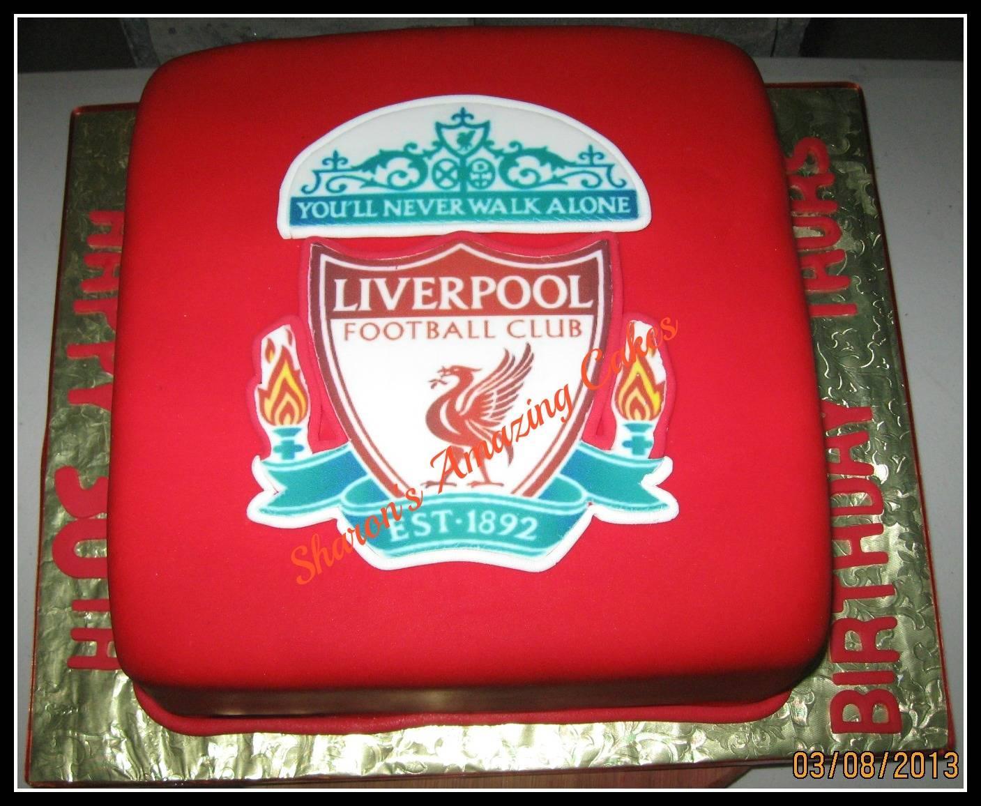 CAKE 49A2 -Liverpool Football Cake