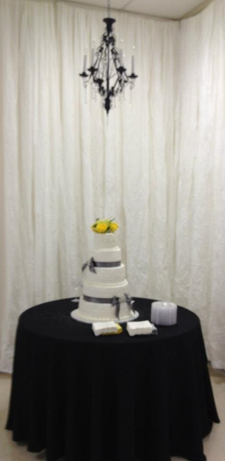 Chandelier Over Cake Table