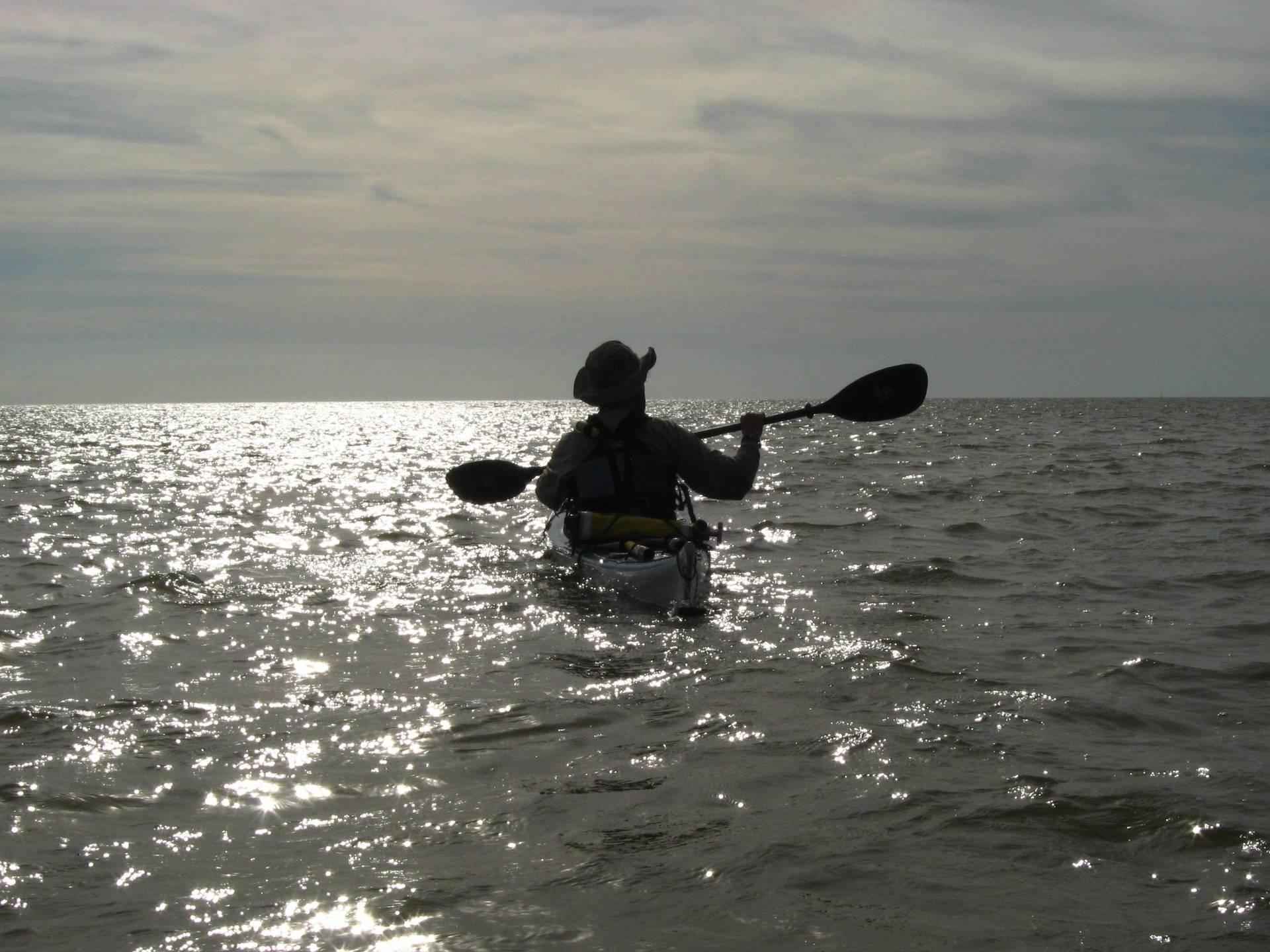 Bill paddling in the Gulf