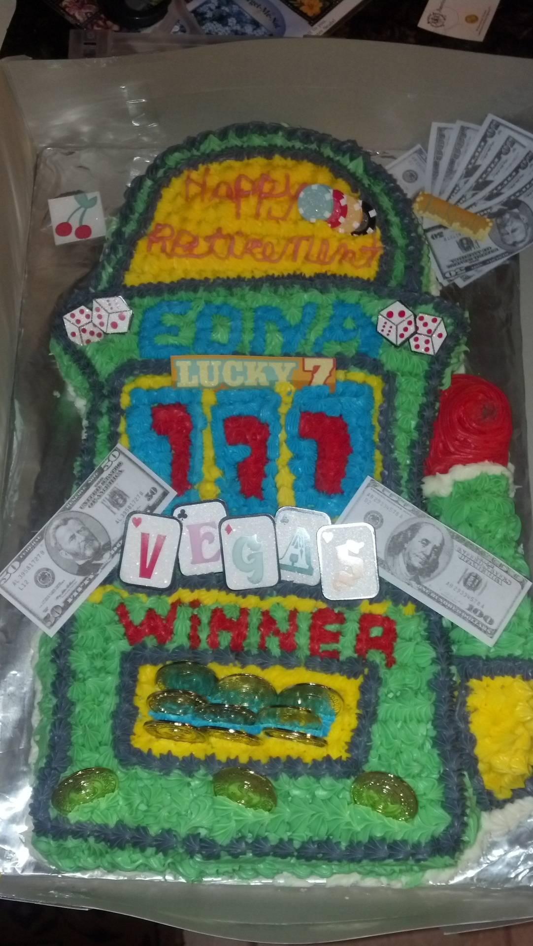 Slots Machine Cake