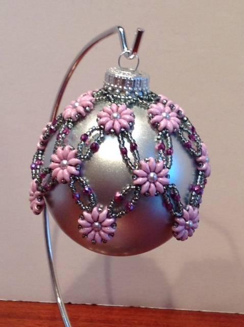 Pink & Purple Pretty Posies Ornament (item #4096) $30.00