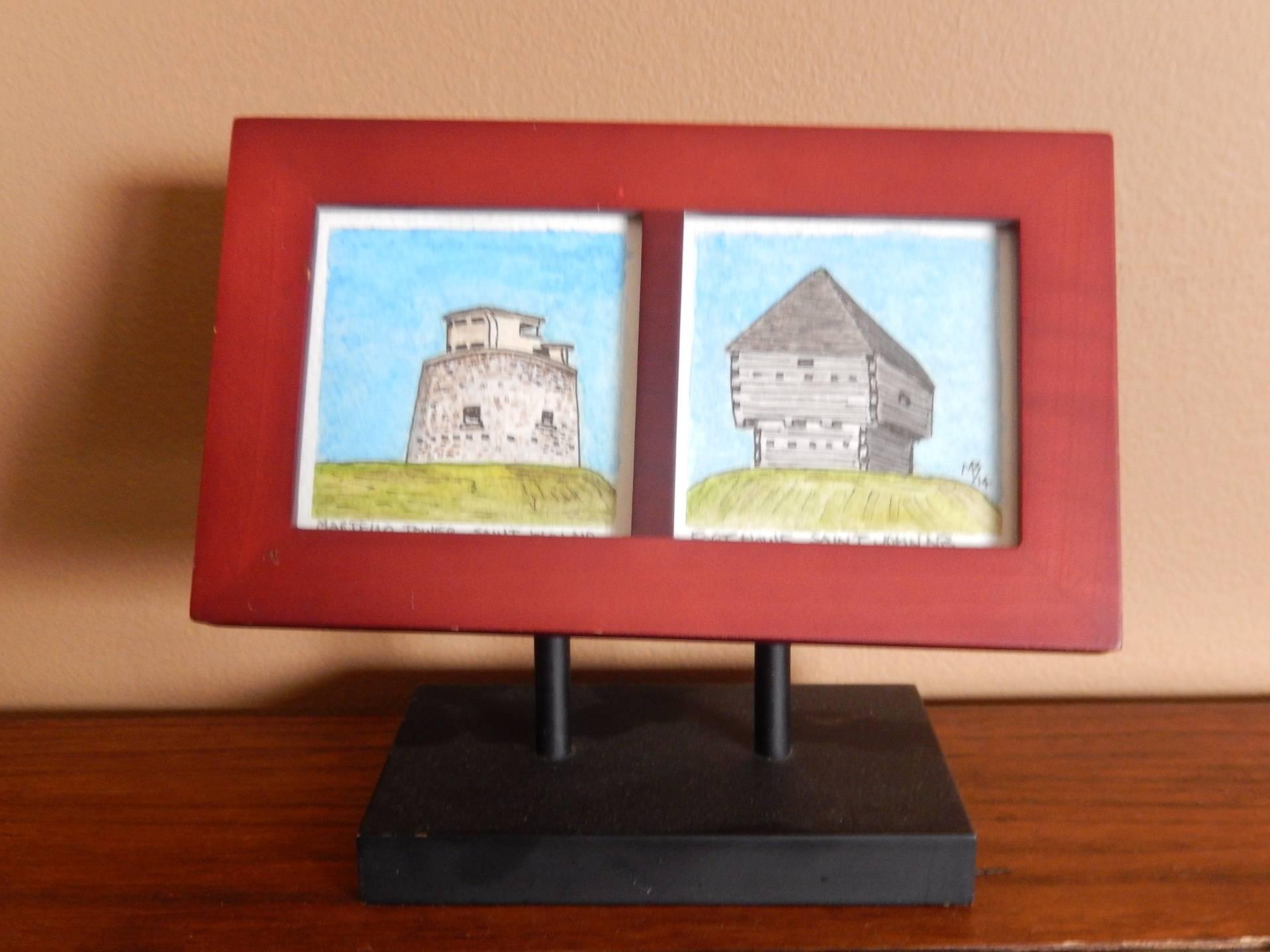 Martellow Tower and Fort Howe, Saint John NB  3x3 $75