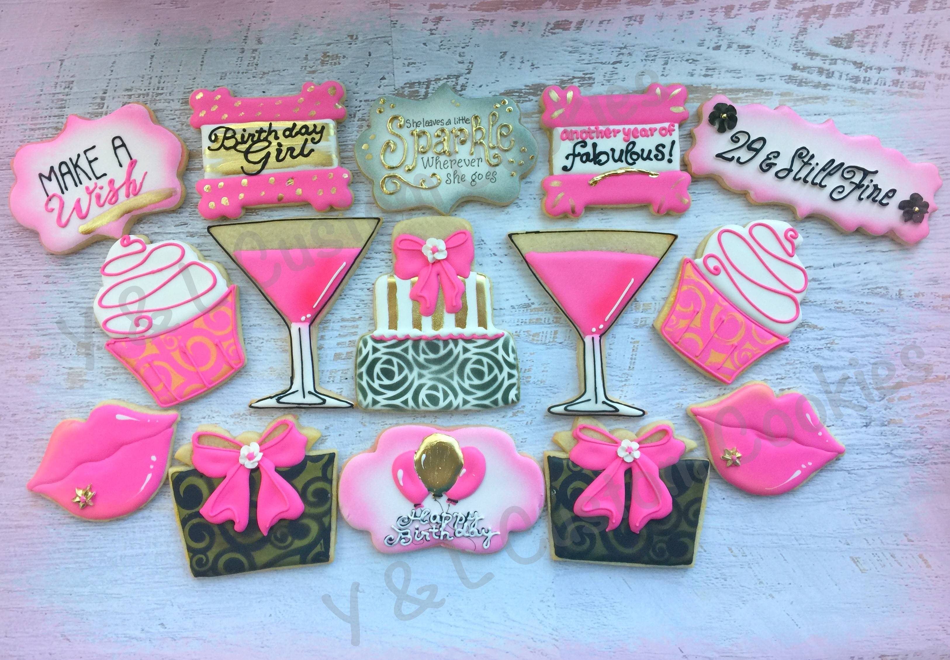 Birthday Cookies Victoria's Secret Theme Pink Theme