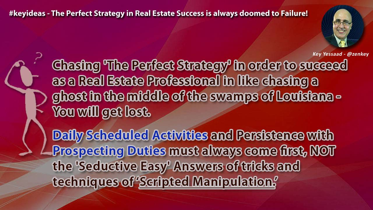 The Perfect Strategy in Real Estate Success is always doomed to Failure!