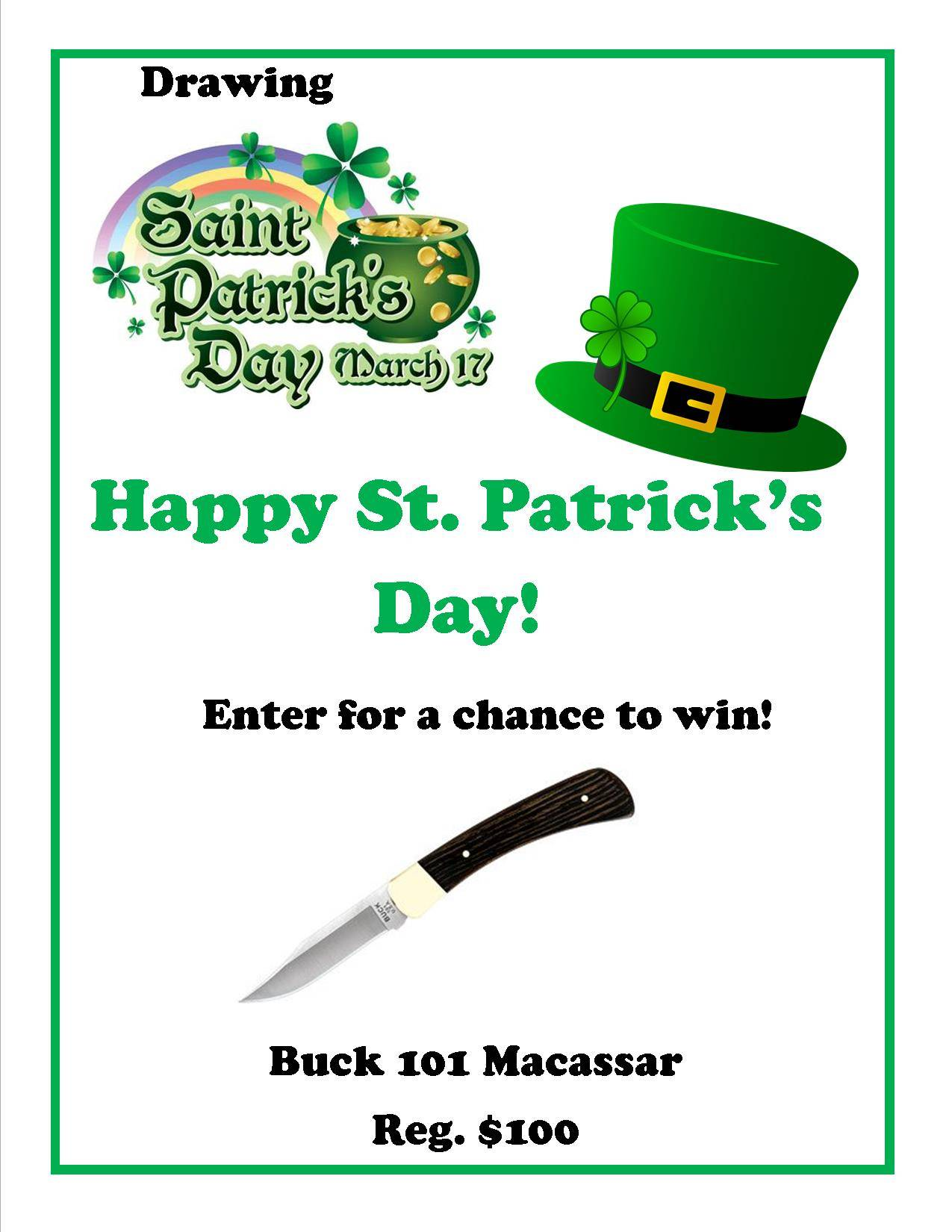 St. Patrick's Day Give Away