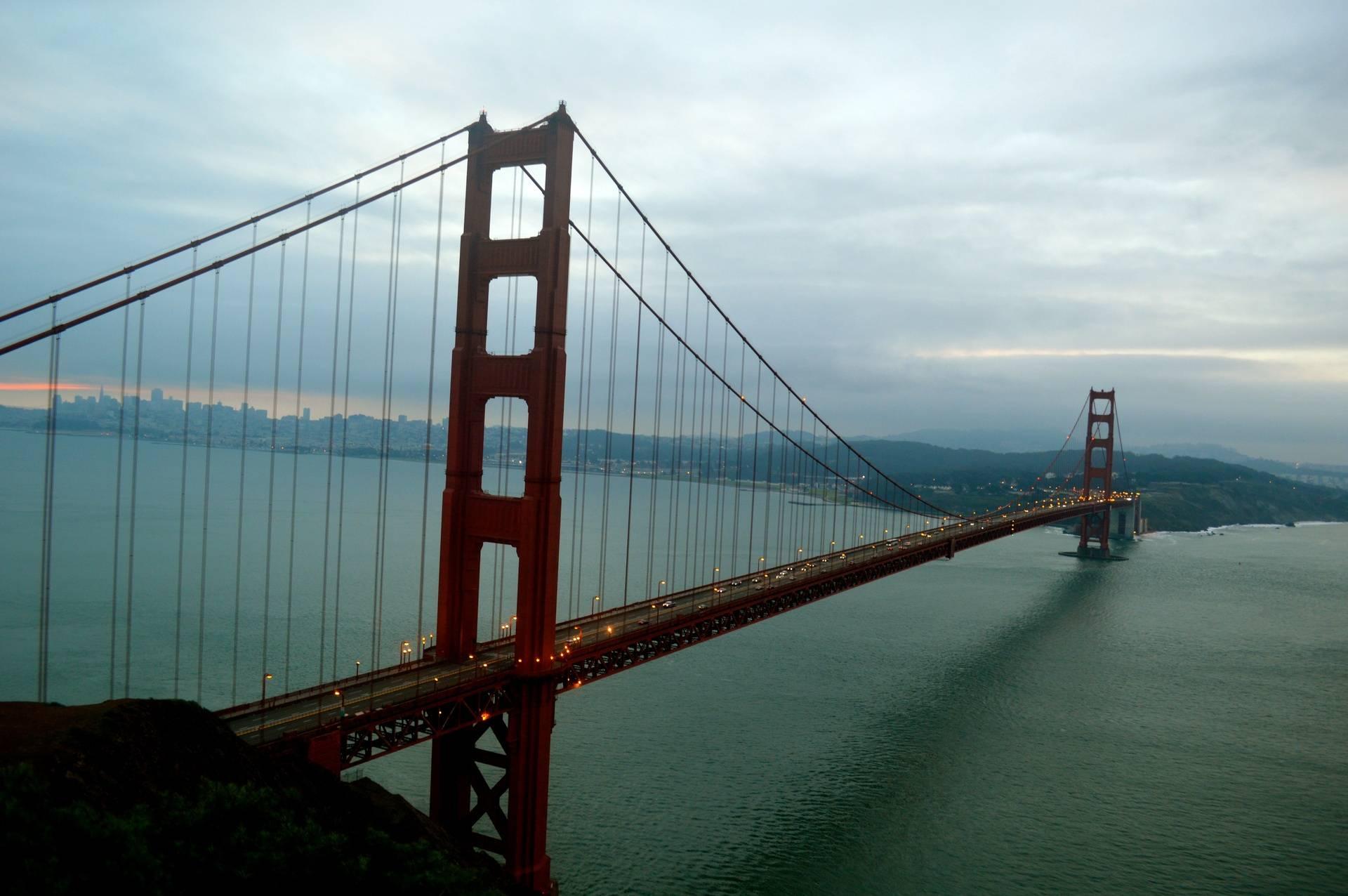 Turquoise skies over the Bridge
