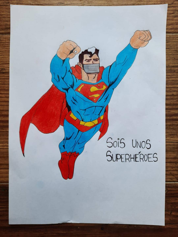 Lauri me mandó este dibujo al hotel