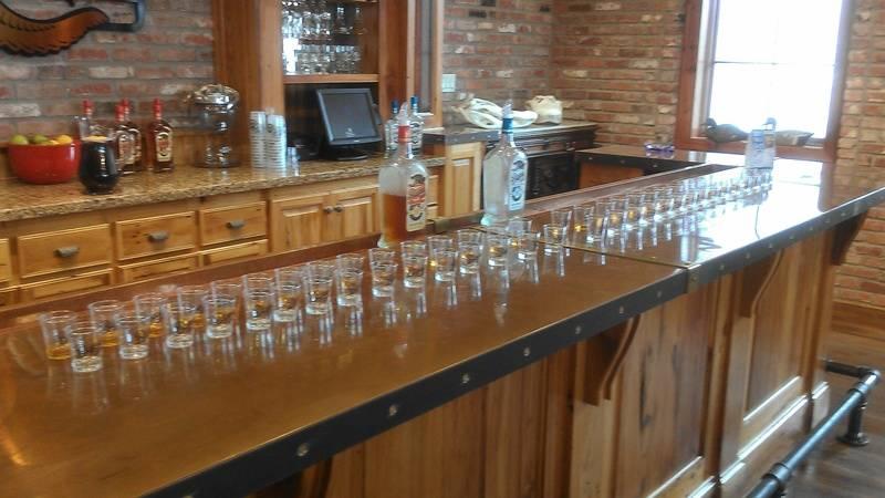 Taste testing at the run factory tour