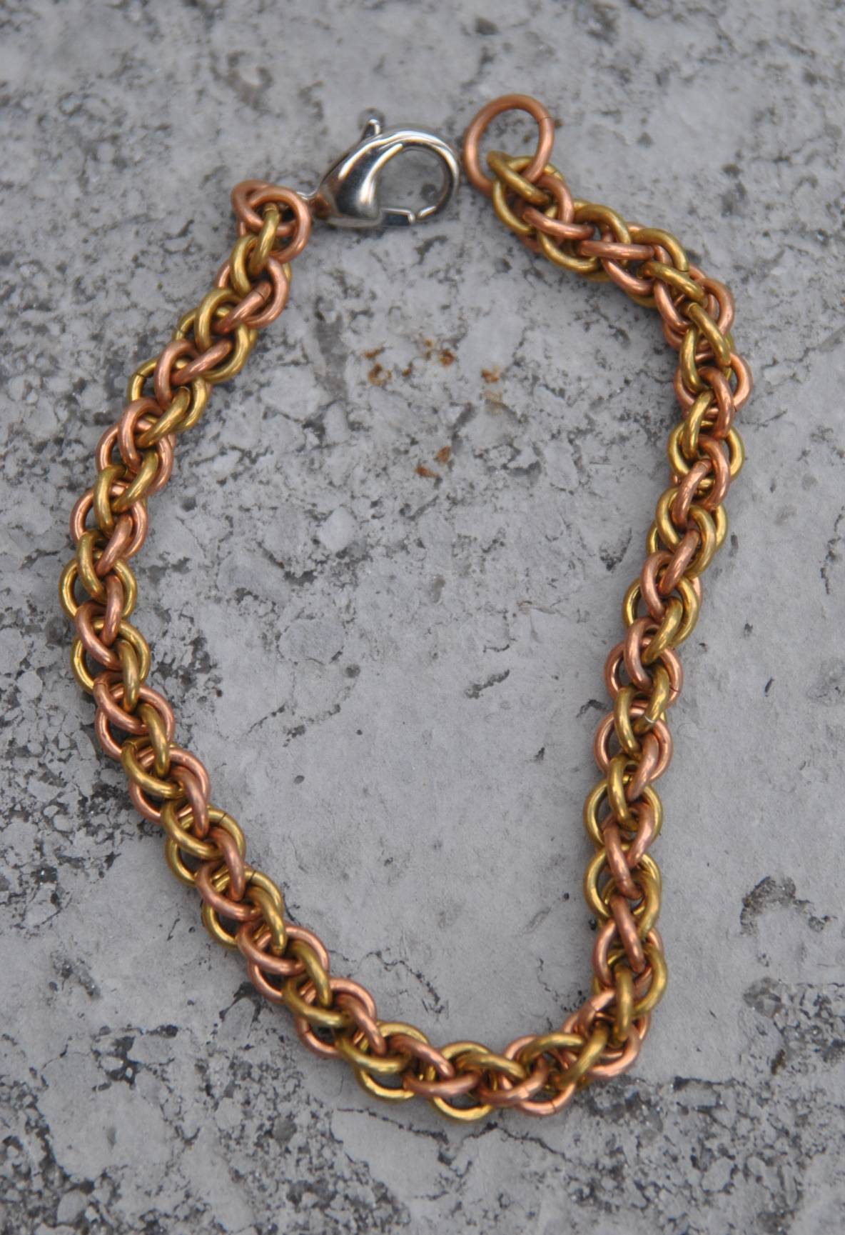 Bronze and Brass rope chain Bracelet