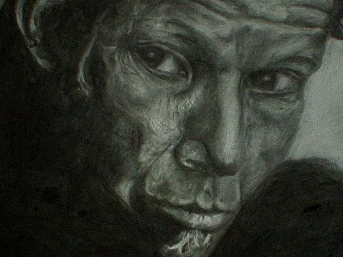 Tom Waits chalk and charcoal