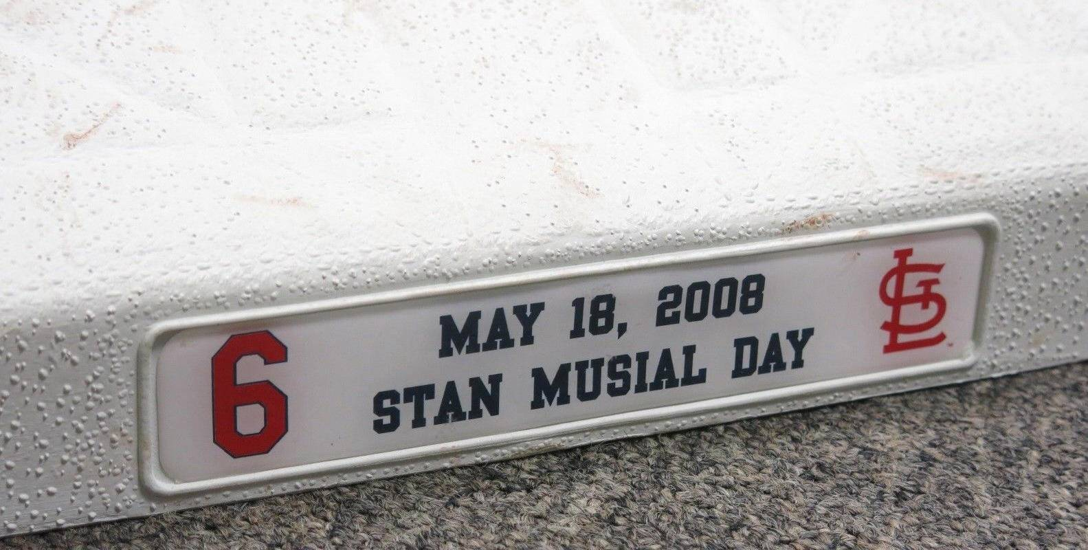 Stan Musial Day Autographed Game Used Third Base May 18, 2008